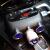 魅迪(MEIDI)6003車載携帯充電器自動車開拓多機能シガラターダブルUSB電圧表示スイッチ付き三車で砂をかける黒