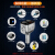 24 v専用の車載充電器の車内シガラタタ変換プラグ携帯自動車用大型トラック多機能車沖別【優雅銀】旗艦品質+高品質三合一充電ラインを送る
